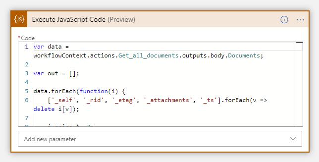 Logic Apps Inline code